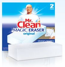 """Now that we've covered all the hows and whys and what to's and wherefore's ..here is a list of just SOME of the """"magic"""" that can be performed with these cleaning erasers:    Remove marker, pen and crayons off the walls and furniture - Remove sticker and label residue. - Cleans notoriously hard-to-clean fiberglass shower floors.      Silver polisher. Removes tarnish from jewelry and silver utensils.      Cleans residue off dry erase marker boards. (Even when someone accidentally uses a"""