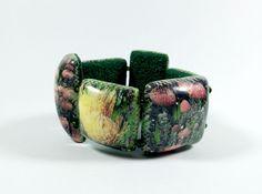 https://flic.kr/p/yn2zYr | Protea bracelet | Image Transfer on polymer clay with enhancements.