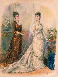 Gallery.ru / Фото #16 - Свадебная мода. Акварельные рисунки из книг мод за 1861-1896 - irgelena