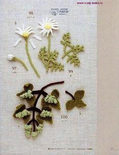 Flowers, fruit, beautiful leaves. #Asahi #original #Japanese #crochet #book