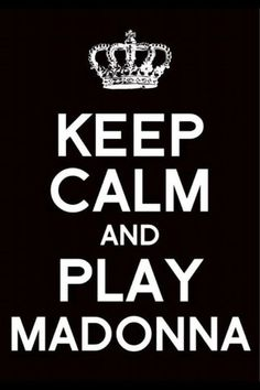 "Keep Calm ""MADONNA"" Art Print by PSimages 