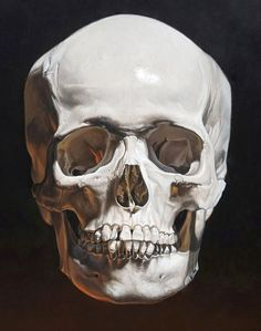 """Florida artist Kevin Grass's """"Memento Mori"""" painting is a realistic vanitas still life with a skull reminding people that life is fleeting. Skull Tattoo Flowers, Skull Hand Tattoo, Skull Tattoo Design, Skull Tattoos, Skull Painting, Skull Artwork, Skull Wallpaper Iphone, Skull Reference, Skull Art"""