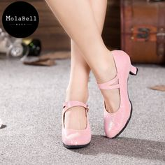 Roze kleur pure kleur pailletten volwassen mid hak latin moderne dans schoenen vrouwen ballroom zachte comfortabele