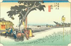 Hiroshige - The Fifty-three Stations of the Tōkaidō 27th station : Fukuroi