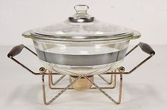 Georges Briard Fire King Mid Century Chafing Dish Lidded Casserole W M - RoofTop Antiques $39.94 6/2017