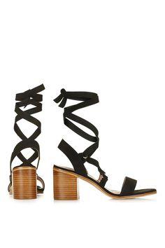 NARDA Ankle-Tie Mid Sandals - Topshop
