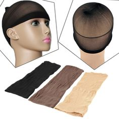Cheap brown wig cap, Buy Quality wig cap directly from China caps for making wigs Suppliers: 2PCS Elastic Unisex Stocking Wig Liner Cap Snood Nylon Stretch Mesh Beige/Black/Brown Wig Caps For Making Wigs L04708
