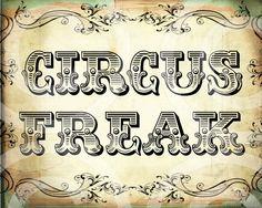 CiRCuS FReaK 8x10 inches printable wall decor antique vintage Design Download…