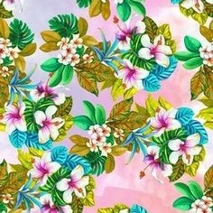 Tropical by Owl Prints Seamless Repeat  Royalty-Free Stock Pattern