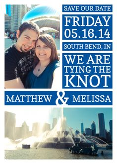 Save the date card for our wedding