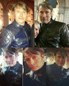 Mads Mikkelsen on set of Season 3 of Hannibal