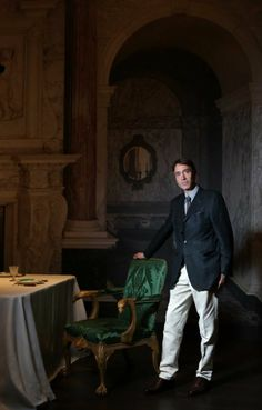 """Lord David Cholmondeley, the owner of England's historic Houghton Hall estate, is photographed in the exhibit """"Houghton Hall: Portrait of an English Country House"""" at Museum of Modern Art Houston on Thursday, June 19, 2014, in Houston, Tx. ( Mayra Beltran / Houston Chronicle )"""