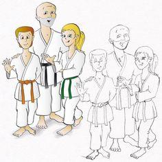 Mein erstes Karate-Buch  Der Karate-Weg der Kinder #karate #karatedo #do #shotokan #kinderbuch #buch #bücher #book #childrensbook #meister #sensei #cartoons #kinder #amazon www.budo-books.com