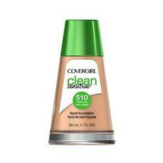 COVERGIRL Clean Sensitive Skin Liquid Foundation Classic Ivory, 1 oz