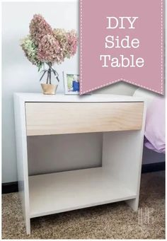 Build your own modern boho side table with the tutorial from Pretty Handy Girl. This side table is small but can be customized to your desires.   #prettyhandygirl #boho #bohodesign #diysidetable #diyfurniture #bedroomfurniture #bedroomdecor #kidsbedroom Diy Furniture Flip, Tiny House Furniture, Diy Furniture Plans, Bedroom Furniture Sets, Handmade Furniture, Home Furniture, Bedroom Decor, Furniture Projects, Diy Projects