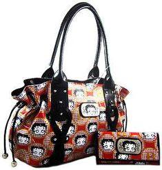 This is one of my favorite purses.betty boop bags and purses Luxury Handbags, Fashion Handbags, Purses And Handbags, Leather Handbags, Fashion Purses, Designer Handbags, Betty Boop Purses, Brighton Handbags, Wholesale Handbags