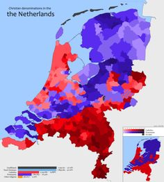 Christian denominations in the Netherlands, 2014.