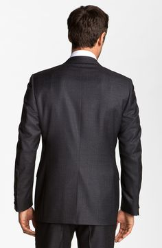 Canali Wool Suit in Gray for Men (charcoal stripe) | Lyst