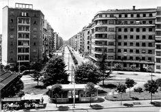 Lambrate, Via Pacini 1950 Milano #fotografia #storia