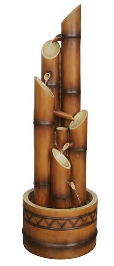 Garden fountains add a distinct element of elegance. Wall fountains are perfect for gardens, patios, or balconies. Indoor and Outdoor garden fountains and decor. Diy Garden Fountains, Small Fountains, Indoor Water Fountains, Indoor Fountain, Outdoor Fountains, Bamboo Water Fountain, Water Fountain Design, Tabletop Water Fountain, Fountain Ideas