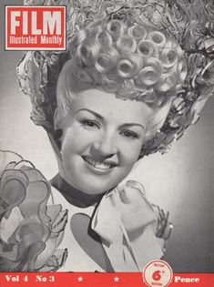 "Betty Grable on the cover of ""Film Illustrated Monthly"" magazine, United Kingdom, March 1949."