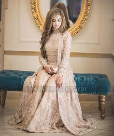 Ideas Wedding Gown Indian Brides Receptions Pakistani Bridal For 2019 Pakistani Fashion Party Wear, Pakistani Bridal Makeup, Bridal Mehndi Dresses, Indian Wedding Gowns, Nikkah Dress, Shadi Dresses, Pakistani Wedding Outfits, Pakistani Dress Design, Pakistani Dresses