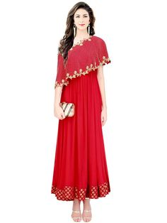 Dazzle and excite with this truly gorgeous outfit.  Item Code: SLKE38868 http://www.bharatplaza.com/new-arrivals/salwar-kameez.html.