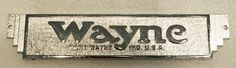 Wayne 60 Name Plate Check out more at gaspumpheaven.com #nameplate #antique #replica #nameplate #garageart