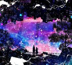 Anime scenery anime scenery anime galaxy, anime artwork и an Fantasy Kunst, Fantasy Art, Ashita No Nadja, Illustrations, Illustration Art, Anime Galaxy, Anime Kunst, Silhouette Art, Anime Scenery