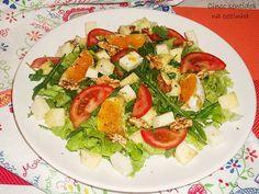 Cinco sentidos na cozinha: Salada de rúcula, laranja e nozes