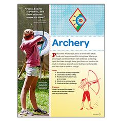 NEW! GIRLS' CHOICE CADETTE ARCHERY BADGE REQUIREMENTS - This free digital download provides the requirements for earning the new Cadette Archery Badge.* FREE DOWNLOAD TO VIEW, SAVE OR PRINT