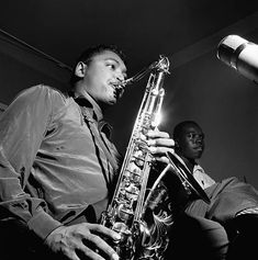 Billy Mitchell plays the tenor saxophone during a recording session for 'The Magnificent Thad Jones' album.
