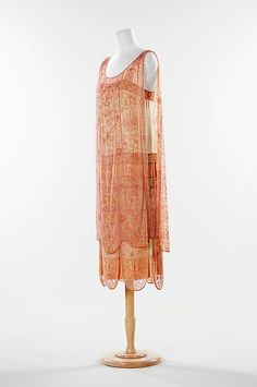 Evening dress (image 2) | French | 1926 | silk | Brooklyn Museum Costume Collection at The Metropolitan Museum of Art | Accession Number: 2009.300.1314a, b
