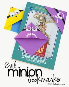 This minion bookmark is such a fun and easy craft for kids. Step-by-step photo instructions make this perfect for a birthday party or back to school.