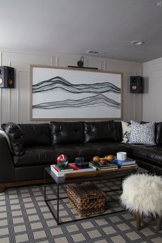 One Room Challenge: Week 6 - The Basement Mancave Reveal