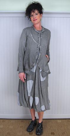 Rundholz Black Label Kastoria Dress, Myrina Jacket, and Xanthos Leather Bootie