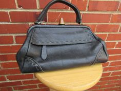 Victorian Style Doctors Bag Gladstone Bag by TemporalOutfitters