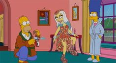 Behind The Scenes With Lady Gaga At 'The Simpsons'