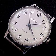 "Rare Vintage Russian"" Raketa"" watch.""Second"" Mechanical2603HA. №736 SU 17 stones #Sekonda #Casual"