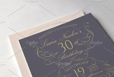 Elegant birthday invitations by annago on @creativemarket