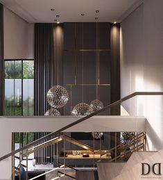 Interior Design Examples, Modern Home Interior Design, Luxury Home Decor, Interior Design Living Room, Living Room Designs, High Ceiling Living Room, Living Room Modern, Modern Luxury Bathroom, Wall Panel Design