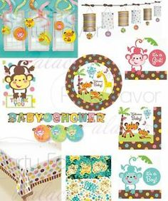 Fisher Price Welcome Baby Shower Jungle Plates Lantern Banner Napkins U Pick