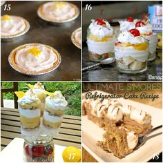 No-Bake Desserts Collage 5 | Simply Southern Baking