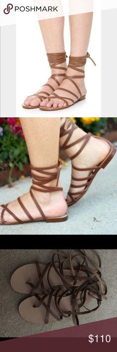 Splendid Carla sandals color cognac size 7 Worn one time. These are amazing!!! Size 7 color cognac Splendid Shoes Sandals