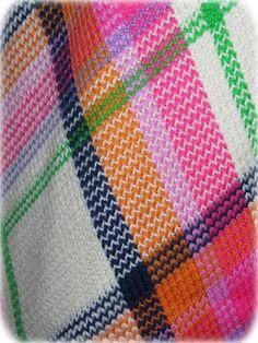 Francesca for Damon Italy 1960's Plaid Knit Full Length Skirt