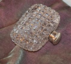 Antique Box Cut Crystal Perfume Bottle