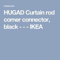 hugad curtain rod corner connector black ikea