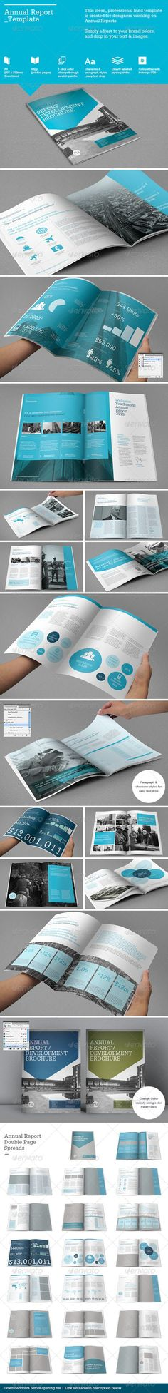 Annual Report Template - Informational Brochures: