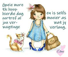 goeie more geniet jou dag Baby Animals, Funny Animals, Lekker Dag, Afrikaanse Quotes, Goeie More, Daily Thoughts, Godly Man, Special Quotes, Good Morning Wishes