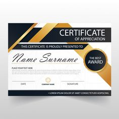 Elegant modern horizontal certificate il... | Free Vector #Freepik #freevector #frame Make Business Cards, Business Cards Layout, Letterpress Business Cards, Elegant Business Cards, Professional Business Cards, Business Card Design, Certificate Format, Certificate Design Template, Coreldraw